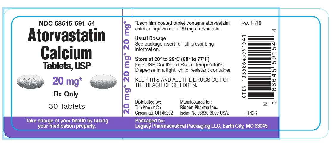 Atorvastatin Calcium Tablets, USP 20 mg