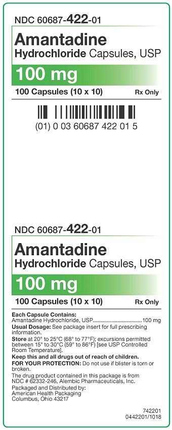 100 mg Amantadine HCl Capsules Carton