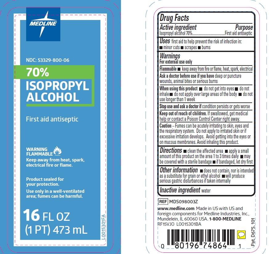 Medline 70% Isopropyl Alcohol PDP