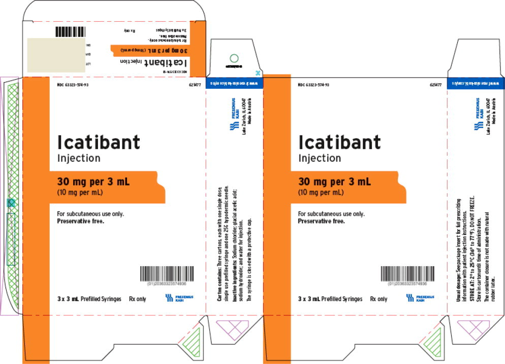 PACKAGE LABEL - PRINCIPAL DISPLAY –Icatibant Injection 3 mL Carton Panel Label