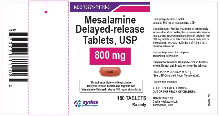Mesalamine Delayed-release Tablets USP, 800 mg