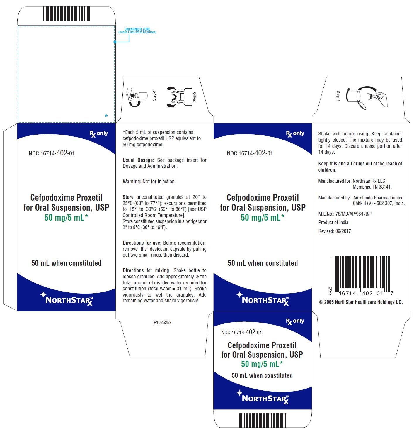 PACKAGE LABEL-PRINCIPAL DISPLAY PANEL - 50 mg/5 mL Carton Label