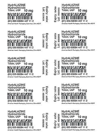 Hydralazine Hydrochloride 10 mg  Card Print