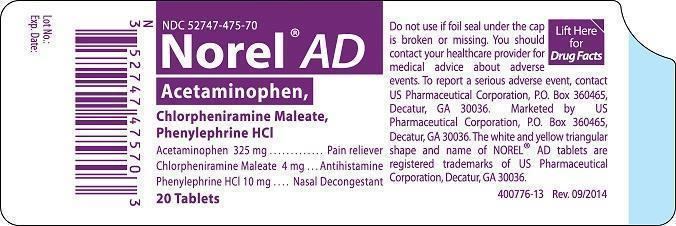 Norel AD container label
