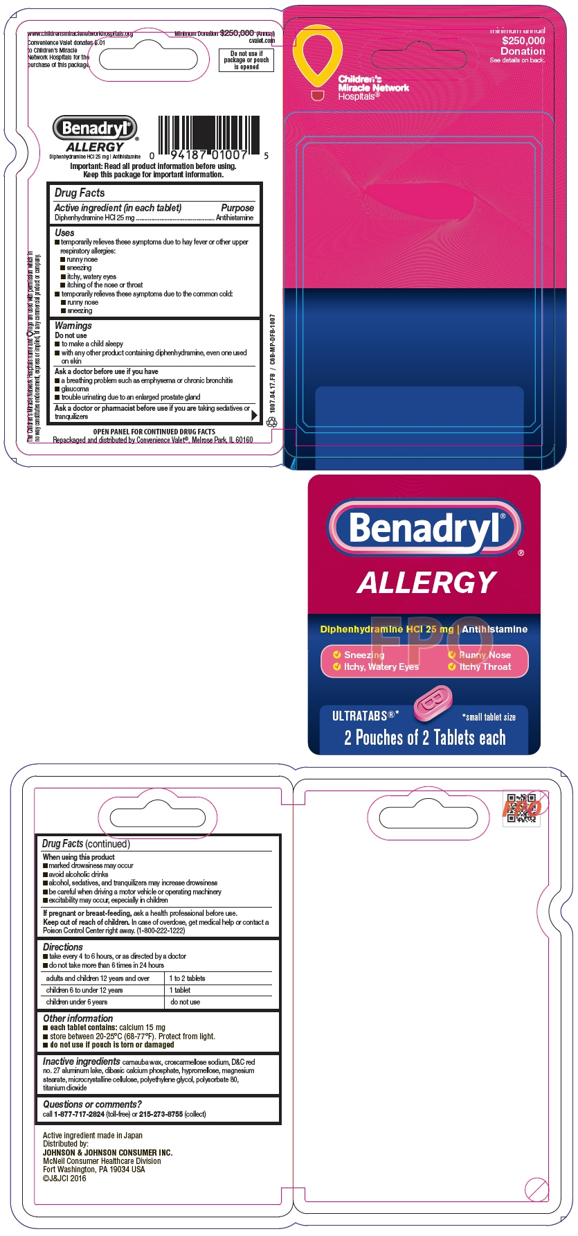 PRINCIPAL DISPLAY PANEL - 25 mg Tablet Pouch Package
