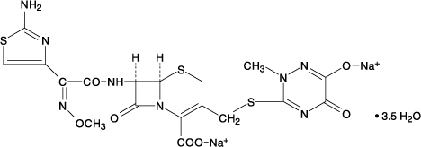 Ceftriaxone Chemical Structure