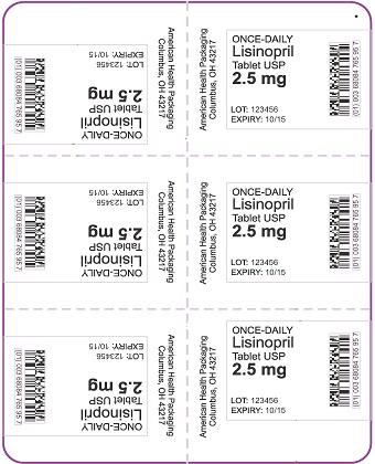 2.5 mg Lisinopril Tablet Blister