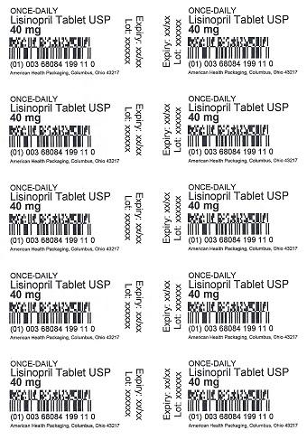 40 mg Lisinopril Tablet Blister