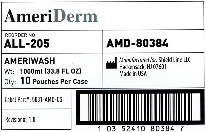 AmeriWash Case Label