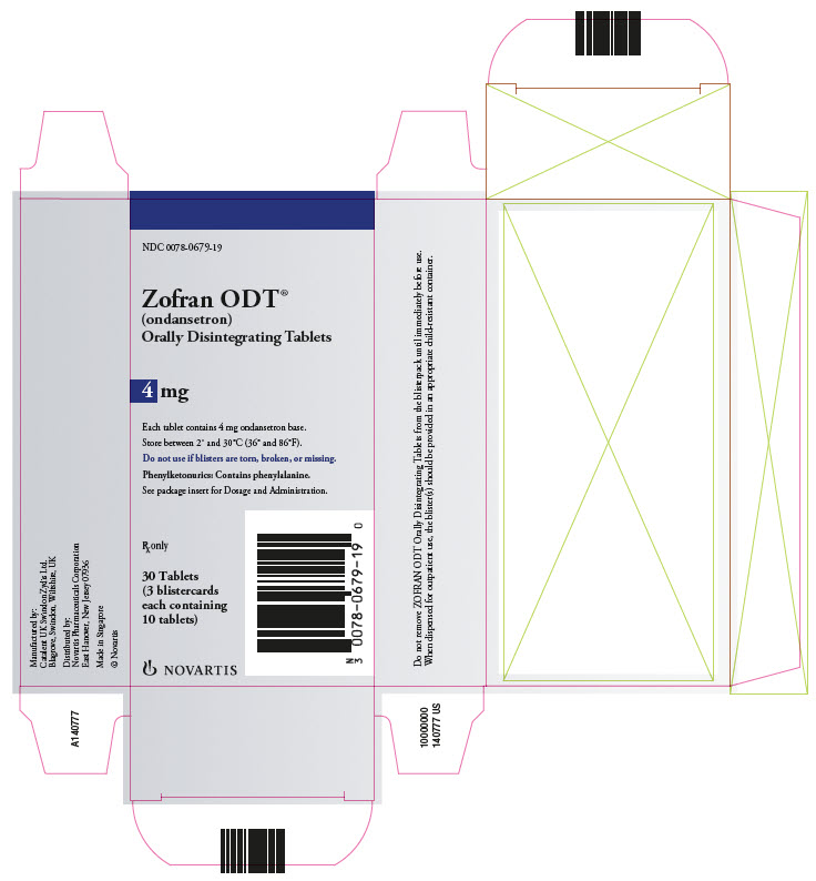Zofran ODT 4mg 30 count carton