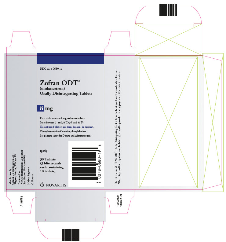 Zofran ODT 8mg 30 count carton