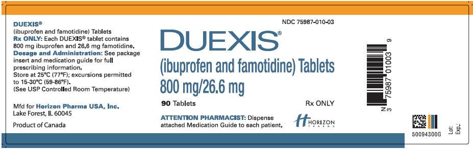 PRINCIPAL DISPLAY PANEL - 800 mg/26.6 mg Tablet Bottle Label