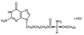 Valacyclovir Hydrochloride Structural Formula