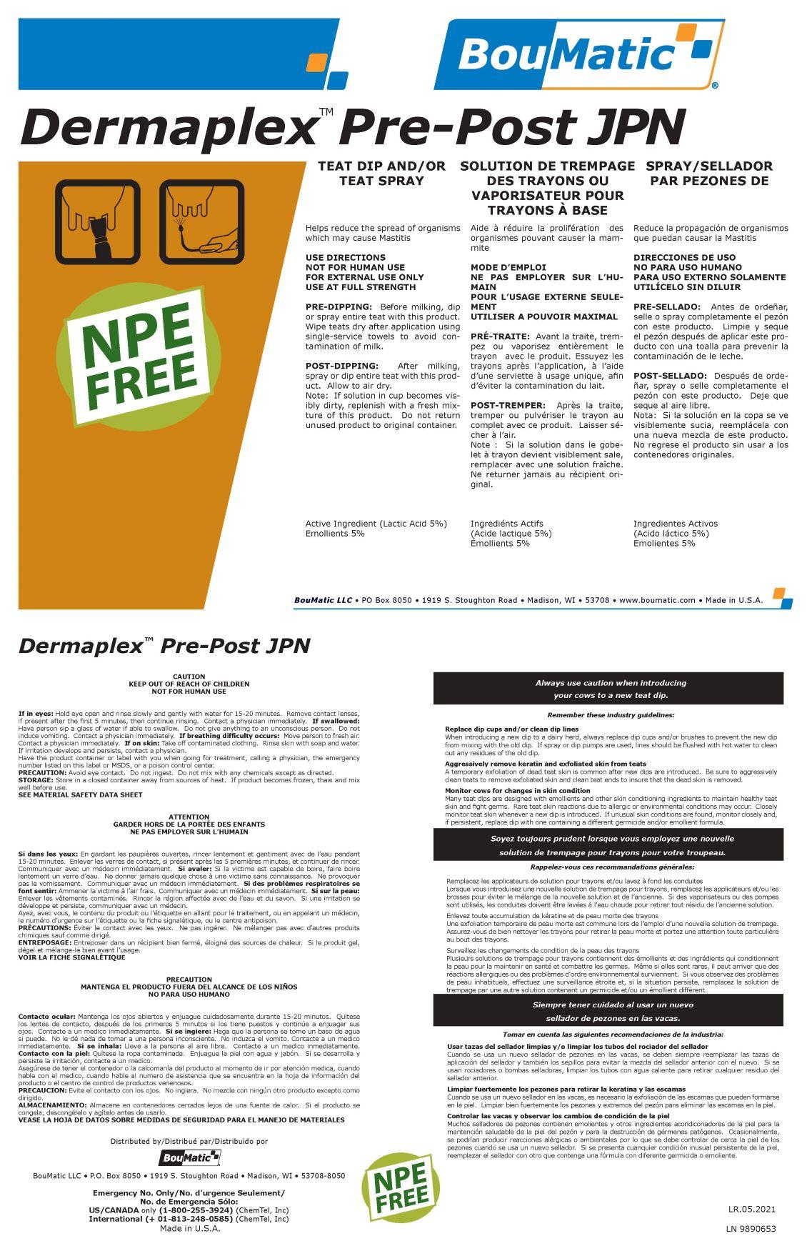 Dermaplex PrePost JPN label Rev