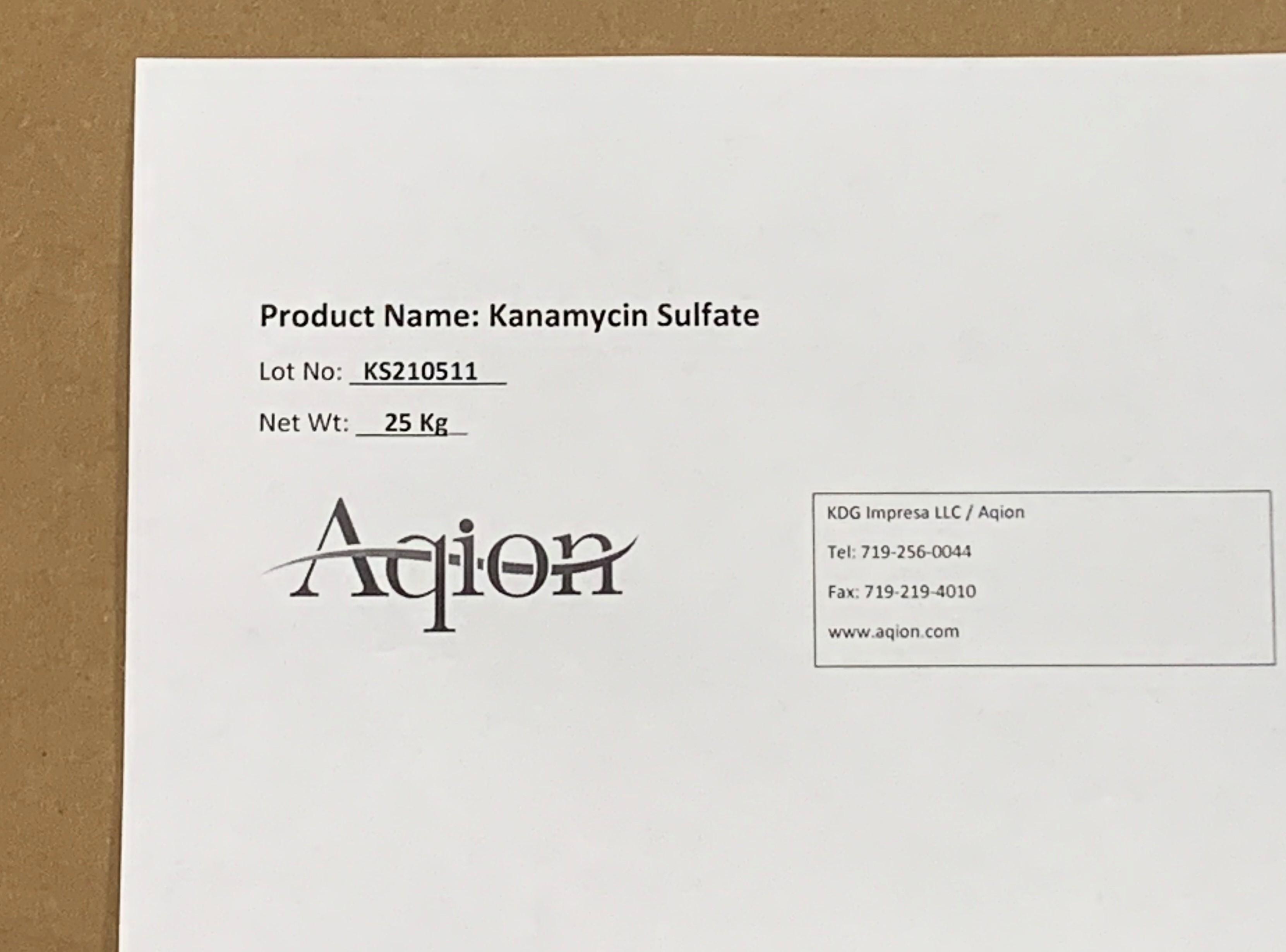 Kanamycin Sulfate Label