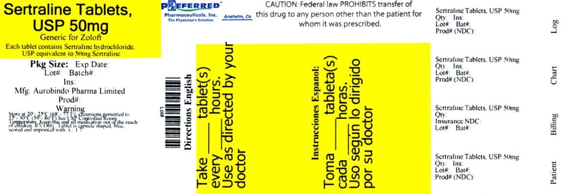 Sertraline Tablets, USP 50mg