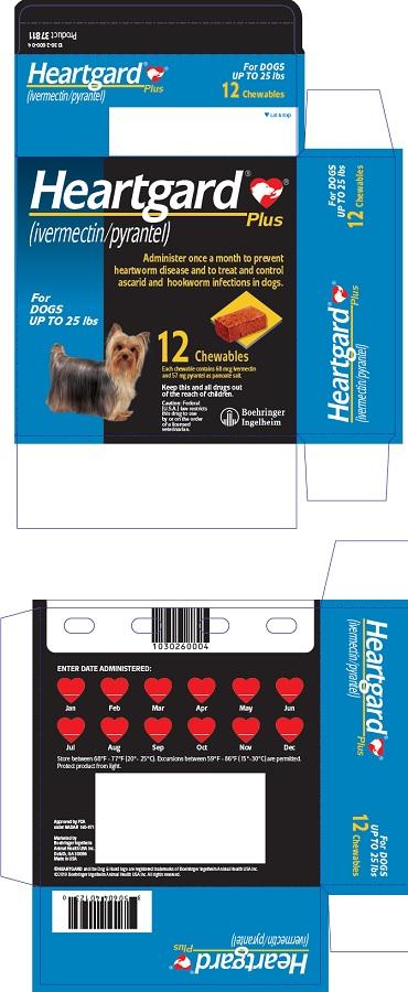 PRINCIPAL DISPLAY PANEL - 12 Tablet Carton (For Dogs up to 25 lbs)