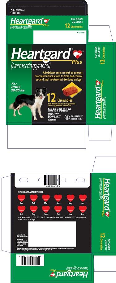 PRINCIPAL DISPLAY PANEL - 12 Tablet Carton (For Dogs 26-50 lbs)