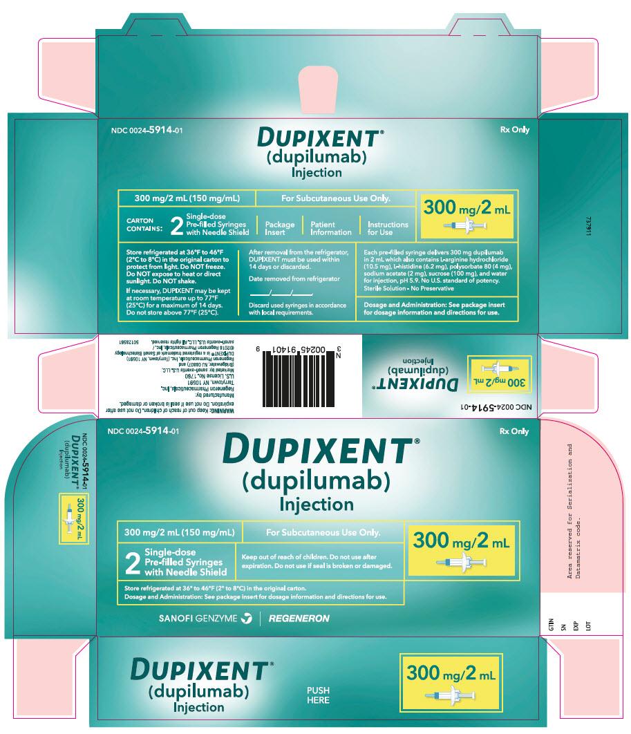 PRINCIPAL DISPLAY PANEL - 300 mg/2 mL Syringe Carton - 5914