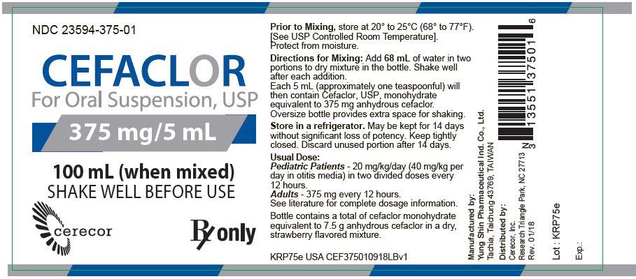 375 mg/5 mL Bottle Label