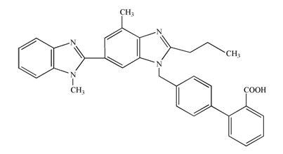 Telmisartan Structural Formula