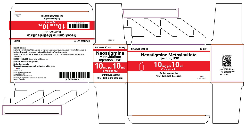 PRINCIPAL DISPLAY PANEL – Neostigmine Methylsulfate Injection, USP 10 mg per 10 mL Carton
