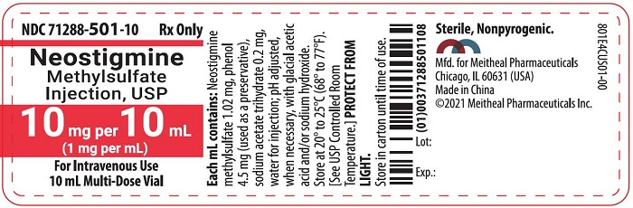 PRINCIPAL DISPLAY PANEL – Neostigmine Methylsulfate Injection, USP 10 mg per 10 mL Vial Label