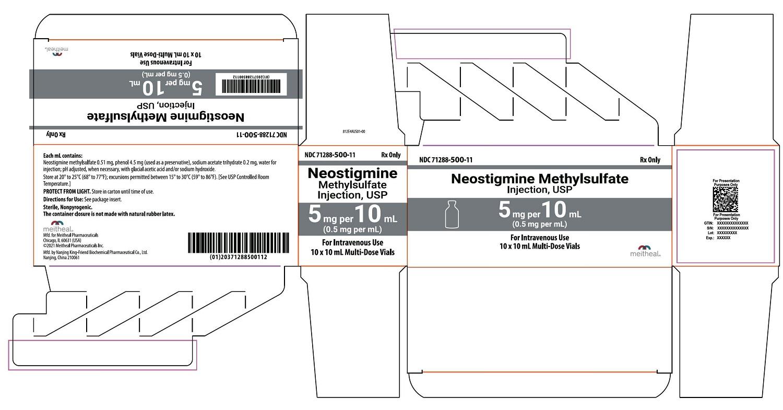 PRINCIPAL DISPLAY PANEL – Neostigmine Methylsulfate Injection, USP 5 mg per 10 mL Carton