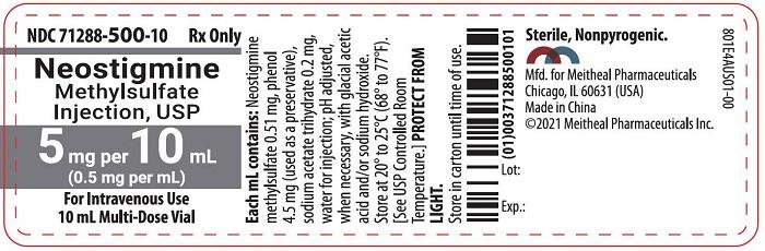 PRINCIPAL DISPLAY PANEL – Neostigmine Methylsulfate Injection, USP 5 mg per 10 mL Vial Label