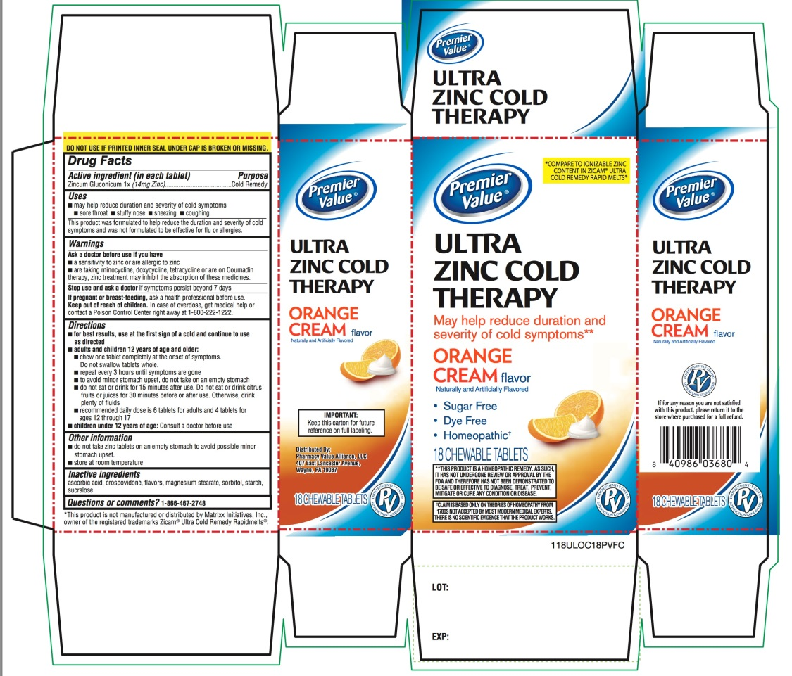 Premier Value Ultra Zinc Cold Therapy 18 counts
