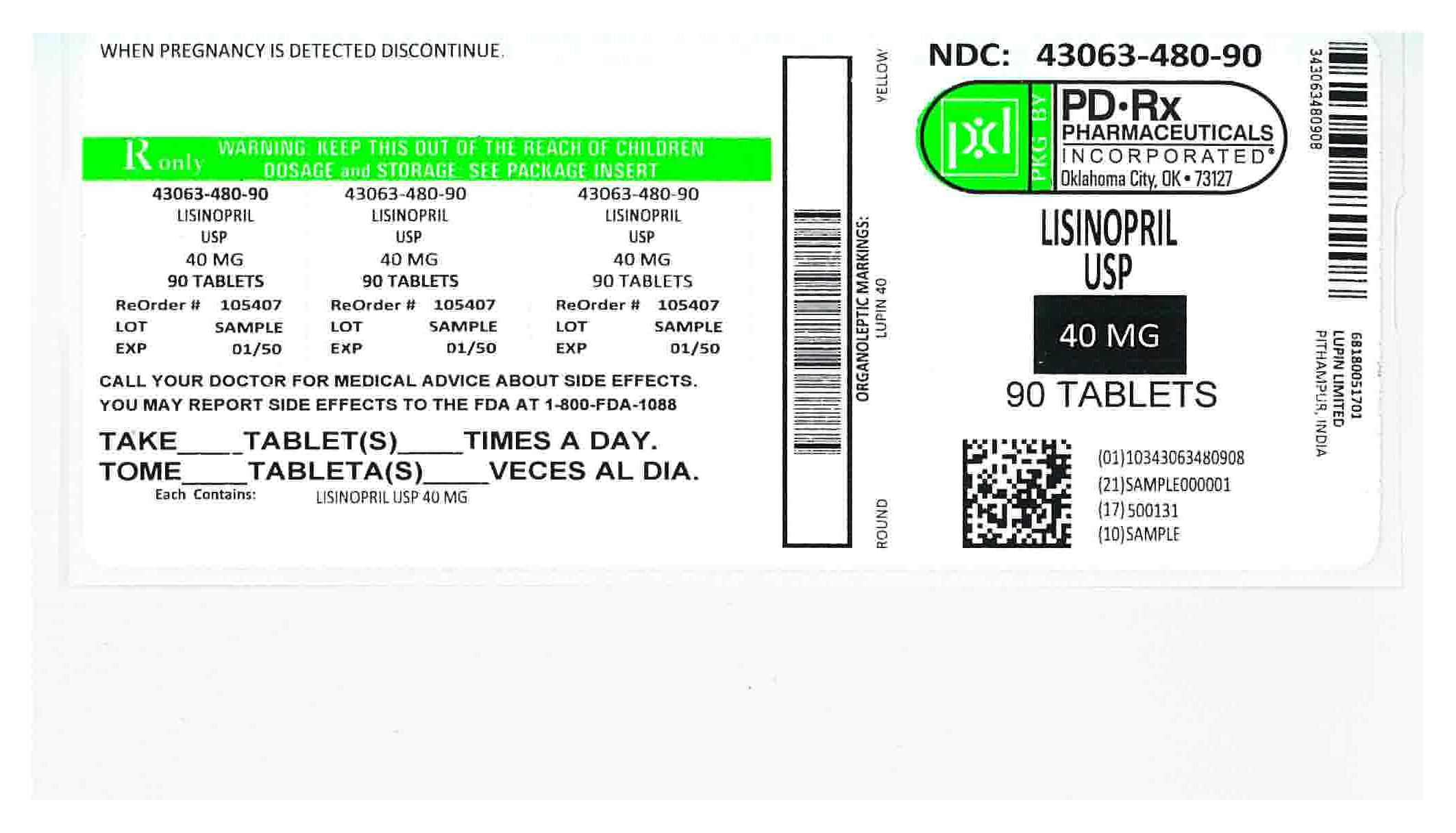 43063480 Label