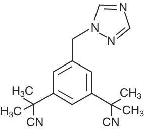 Chemical Structure for anastrozole