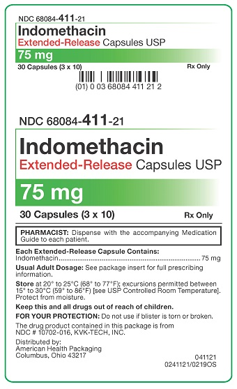 75 mg Indomethacin ER Capsules Carton