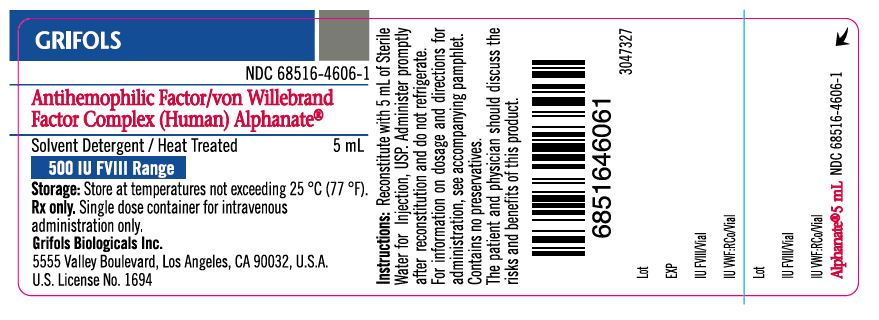 Principal Display Panel – 500 IU Vial Label