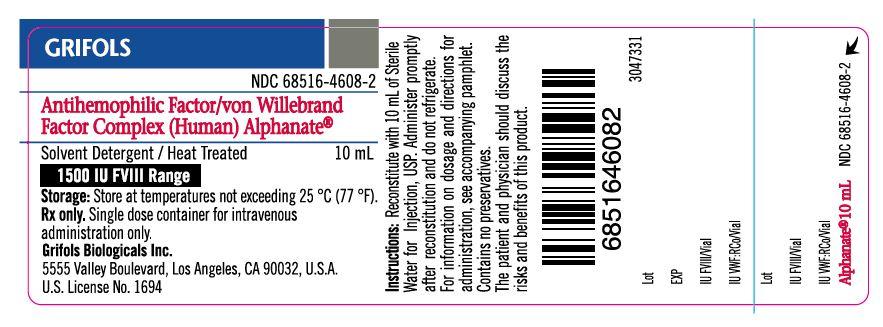 Principal Display Panel – 1500 IU Vial Label