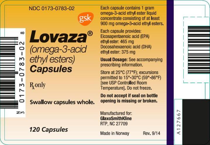 Lovaza 120 count label