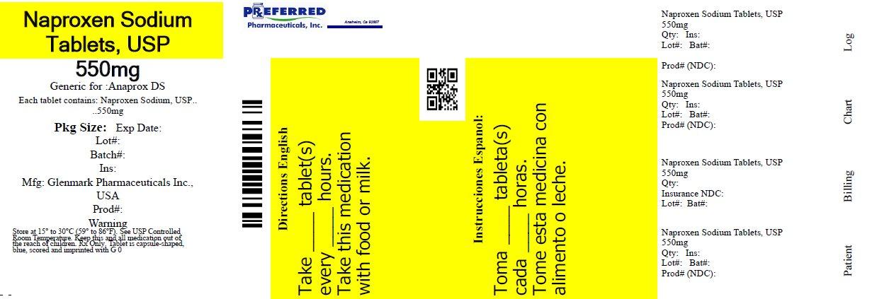 Naproxen Sodium Tablets, USP 550mg