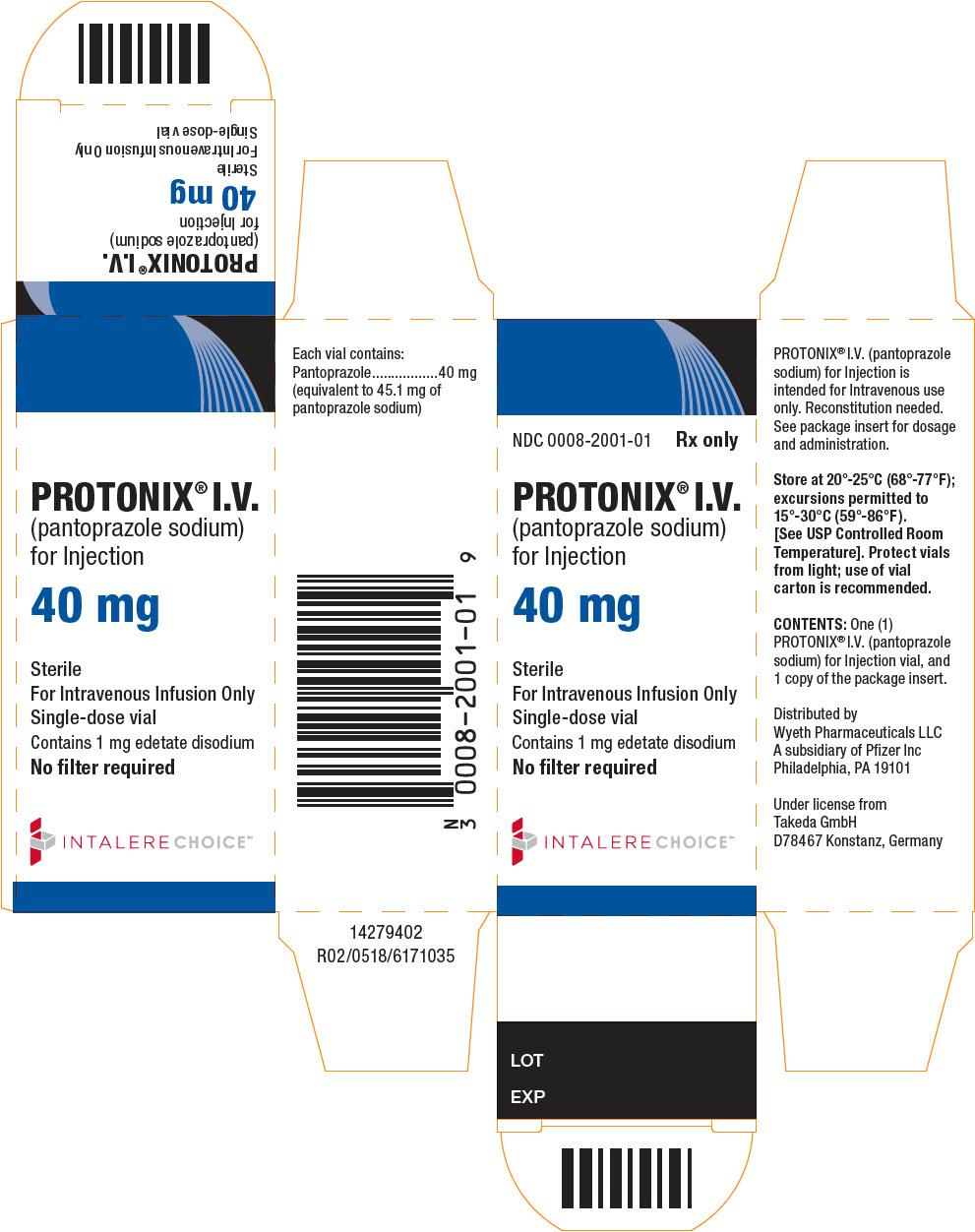 PRINCIPAL DISPLAY PANEL - 40 mg Vial Carton