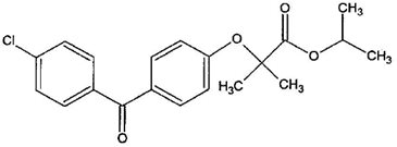 Fenofibrate Structural Formula