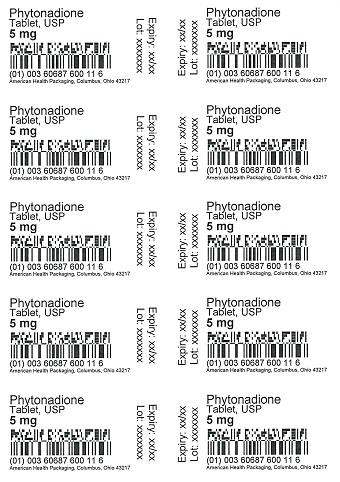 5 mg Phytonadione Tablet Blister