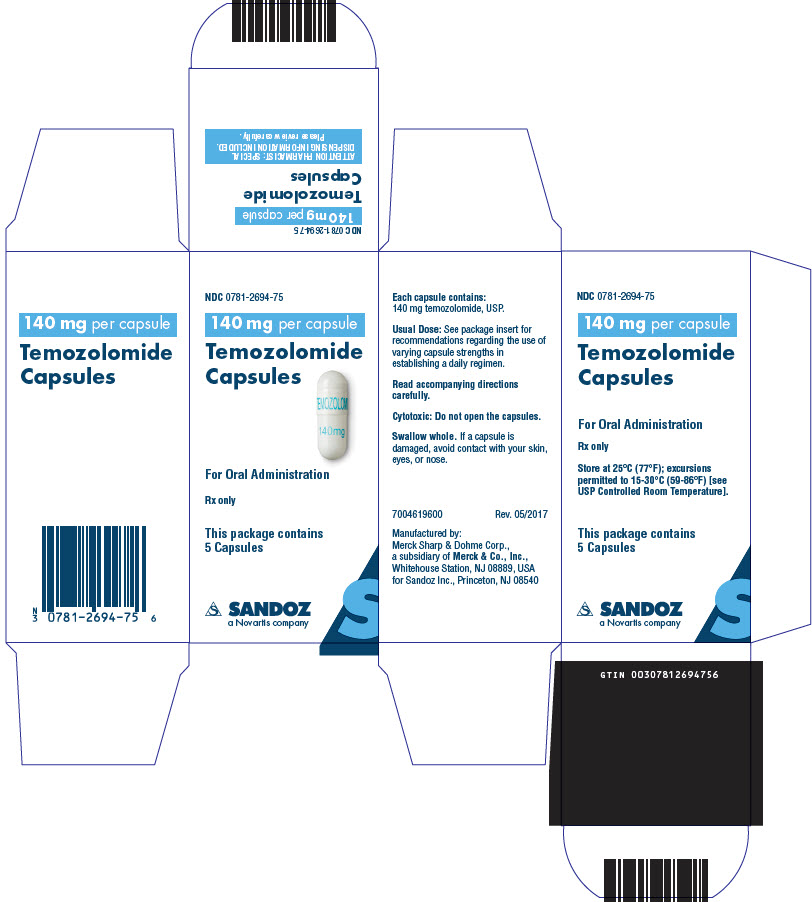 PRINCIPAL DISPLAY PANEL - 140 mg Capsule Bottle Carton
