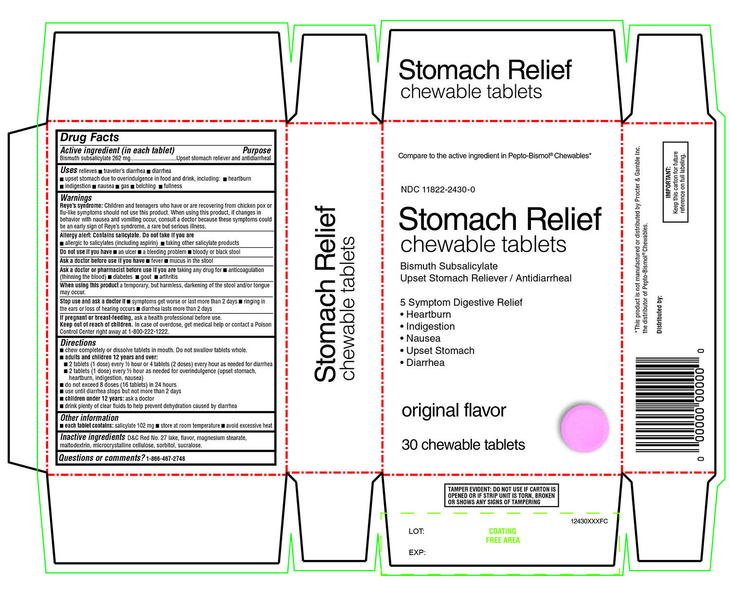 Rite Aid Stomach Relief Chewable Tablets