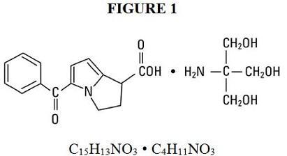 Structural formula of Ketorolac