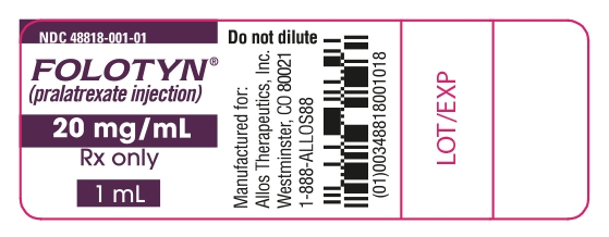 Folotyn 20 mg/mL Vial