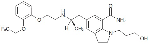 Silodosin Chemical Structure