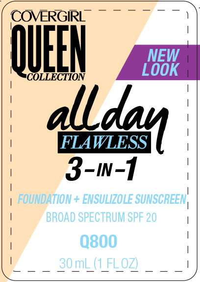 Principal Display Panel - Covergirl Queen Collection All Day 800 Label