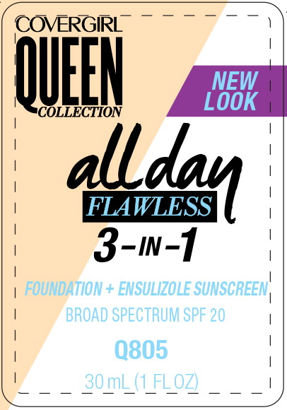 Principal Display Panel - Covergirl Queen Collection All Day 805 Label
