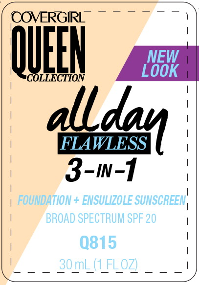 Principal Display Panel - Covergirl Queen Collection All Day 815 Label