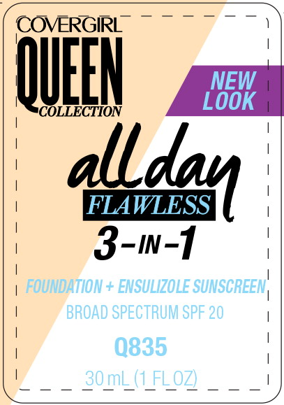 Principal Display Panel - Covergirl Queen Collection All Day 835 Label