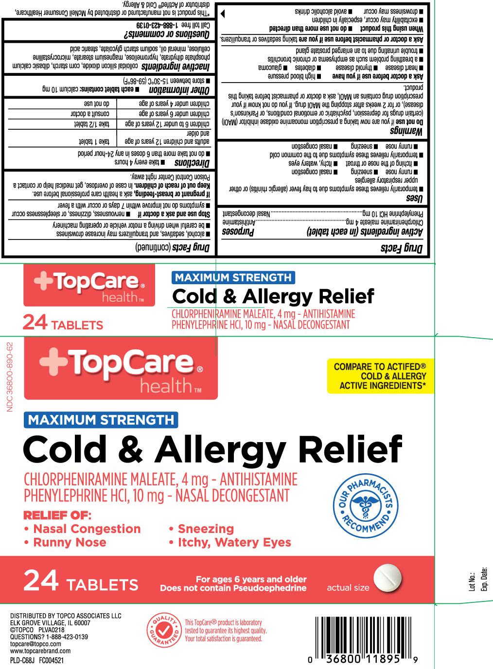 Chlorpheniramine maleate 4 mg, Phenylephrine HCI 10 mg